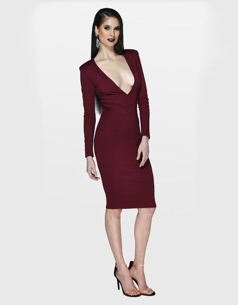 Alexis Dress Cranberry Front